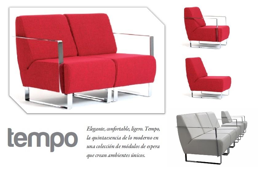 TEMPO Sillón (2 plaza)  Muebles de Oficina