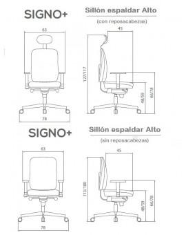 SIGNO+  Sillón Alta (con reposacabezas)