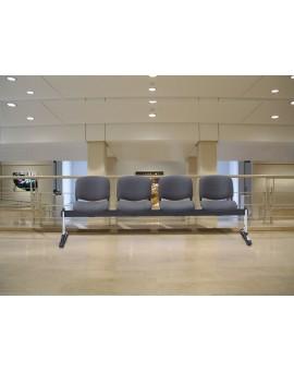 TECNIC  Bancada 3 plazas tapizadas + Mesa
